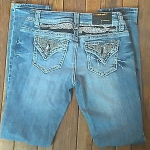 ZCO Embroidered Studded Jeans. Sz 5
